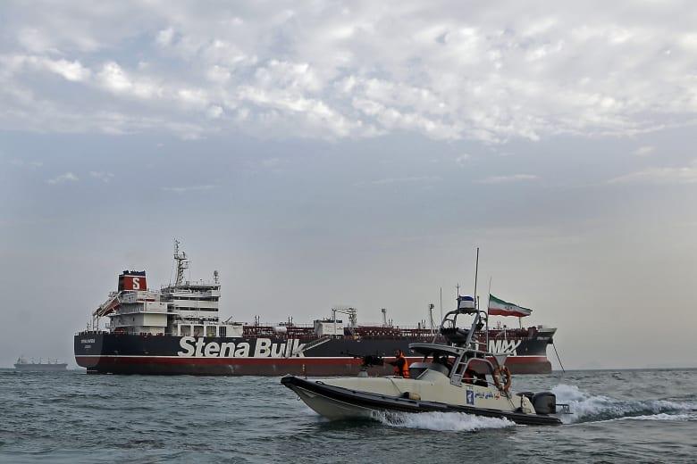 احتجاز ناقلة النفط البريطانية في الخليج