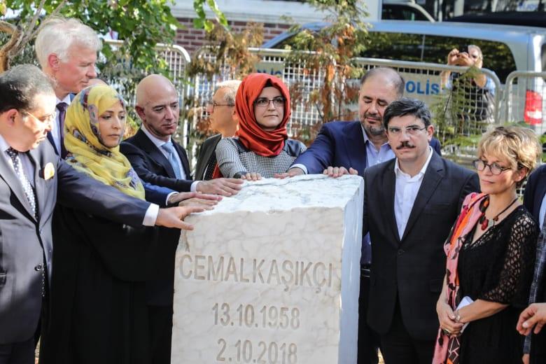 نصب تذكاري لجمال خاشقجي أمام القنصلية السعودية في اسطنبول