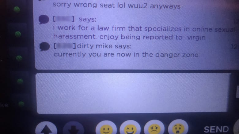 مسافرة تتلقى رسائل مضايقة جنسية من خلال نظام الترفيه على متن طائرة خطوط فيرجن أتلانتيك الجوية