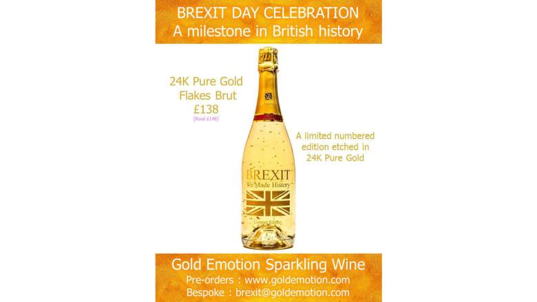 """احتفالاً بالـ""""بريكست"""".. شركة فرنسية تنتج النبيذ المخلوط بحبيبات الذهب"""