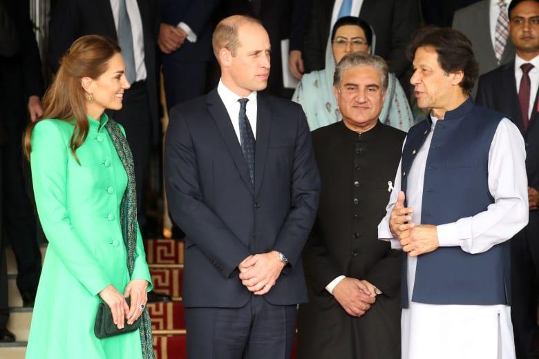 كيت ميدلتون في باكستان.. واللون الأخضر يغلب على إطلالتها