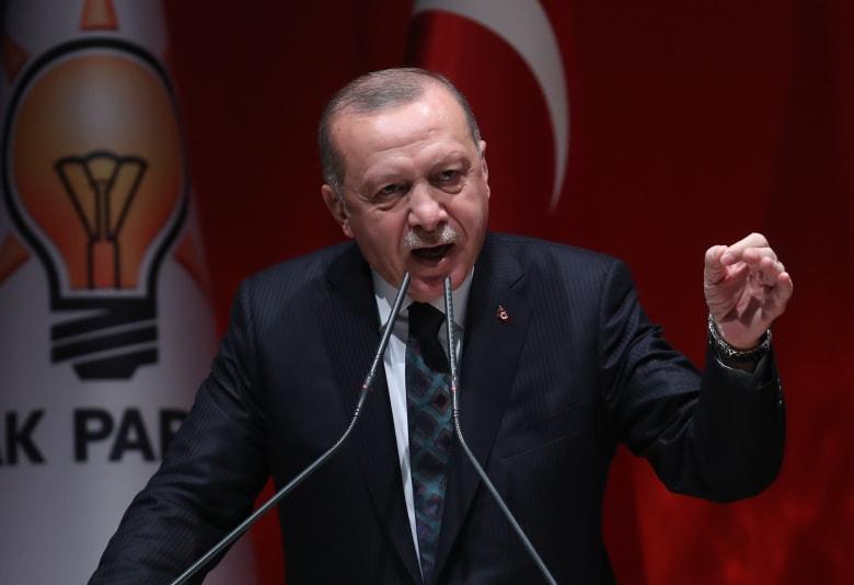 """أردوغان يهاجم جامعة الدول العربية والتحالف الدولي ويوجه رسالة لأمريكا بشان """"نبع السلام"""""""