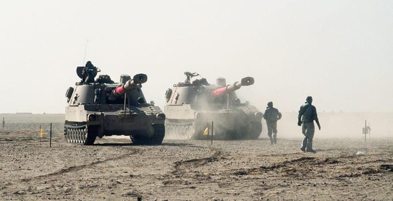 مدافع ذاتية الحركة تابعة للجيش المصري
