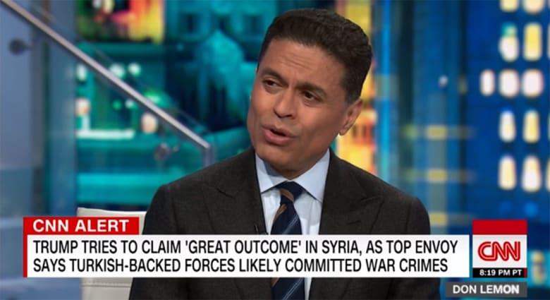 """""""ترامب نمر من ورق"""".. فريد زكريا يعلق لـCNN على المواقف من تركيا وإيران"""
