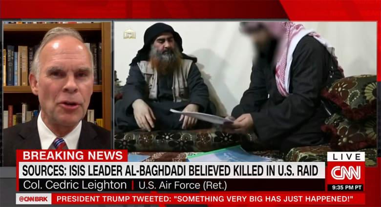 """""""البغدادي كان ينام بحزام انتحاري"""".. محلل يبرز لـCNN تقارير استخباراتية سابقة"""