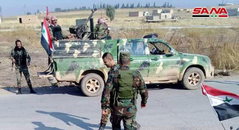 سانا: اشتباكات بين الجيش السوري وقوات تركية بريف رأس العين