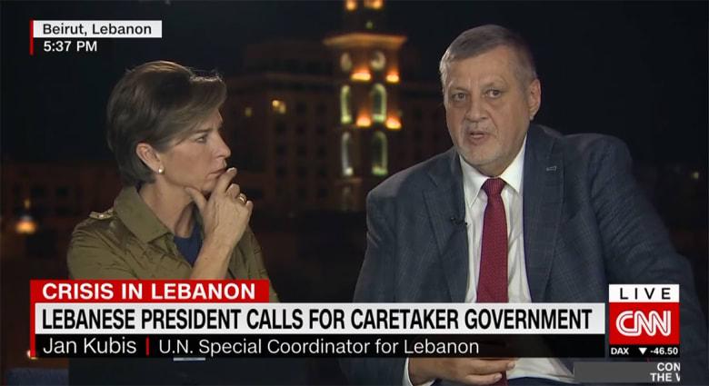 ماذا يدور بذهن النخب السياسية في لبنان الآن؟ منسق الأمم المتحدة يعلق لـCNN
