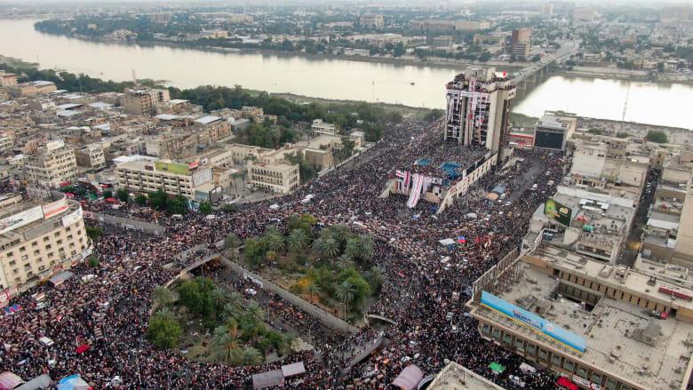 "مظاهرات العراق.. ""قطع جسور وطرق"" في بغداد يبرز بين مغردين"