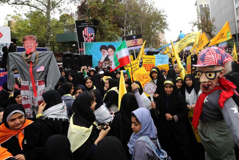 كيف أحيا الإيرانيون مناسبة اقتحام السفارة الأمريكية في طهران؟