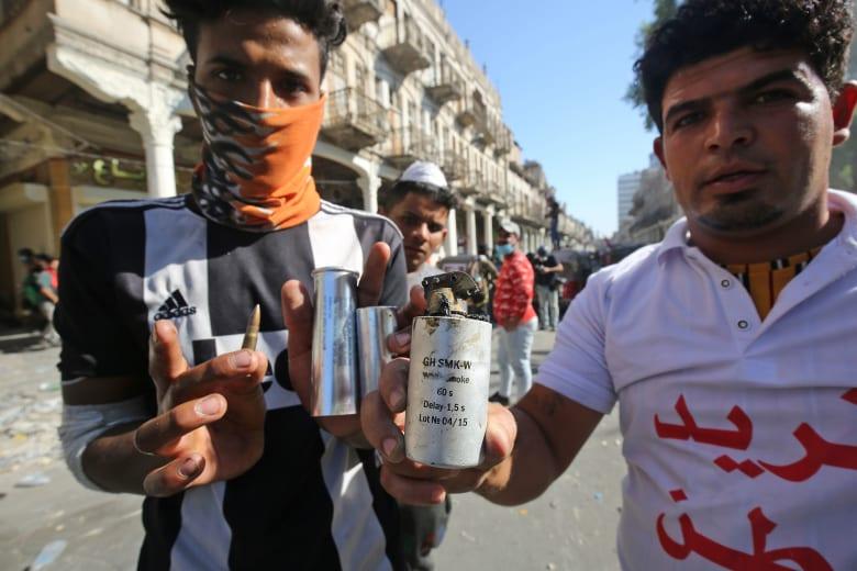 """العفو الدولية: """"مقذوفات فتاكة"""" إيرانية الصنع تستخدم في قتل متظاهري العراق"""