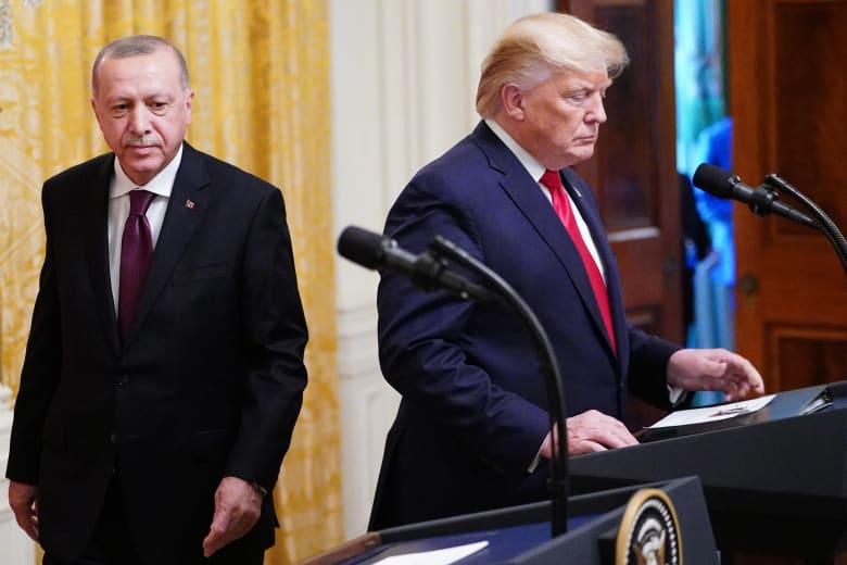 """أردوغان من أمريكا عن رسالة ترامب """"لا تكن أحمقا"""": أعدتها اليوم للسيد الرئيس"""