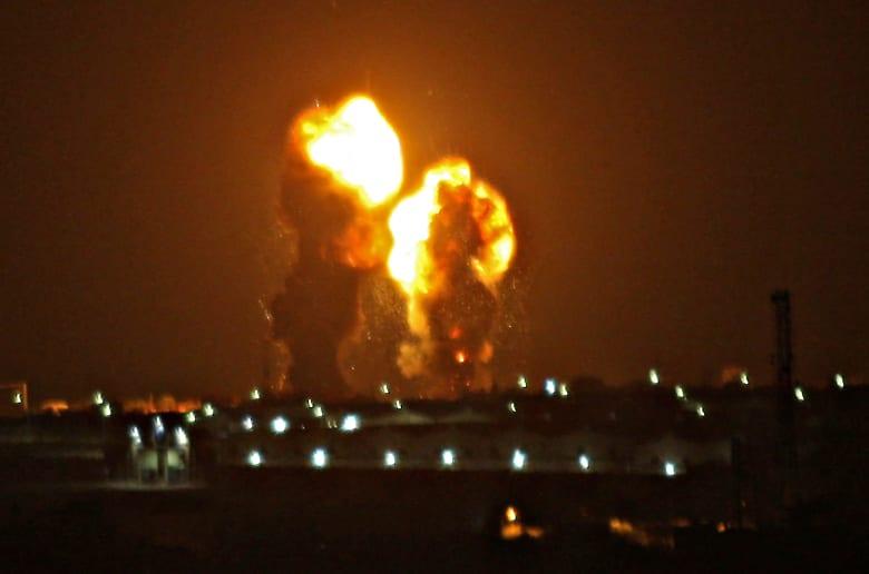 غارة جوية إسرائيلية على قطاع غزة
