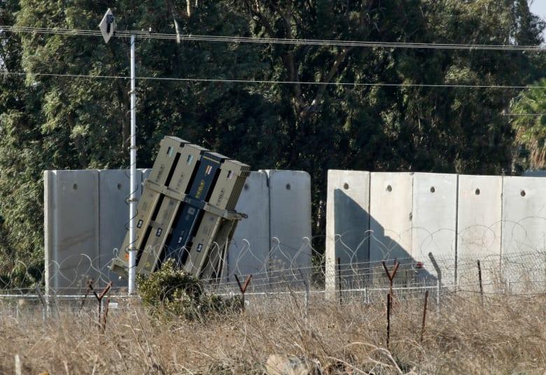 صورة لإحدى بطاريات القبة الحديدية في الجولان