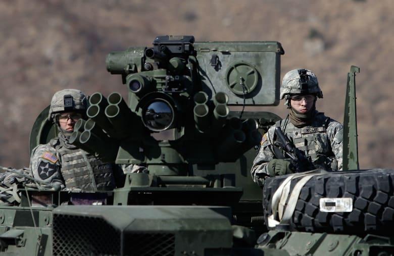 صورة ارشيفية لجنود أمريكيين في كوريا الجنوبية