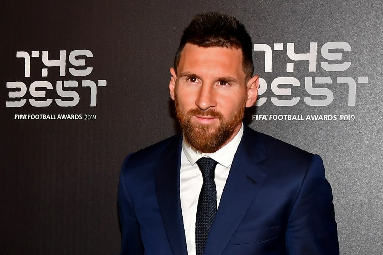 ليونيل ميسي المتوج كأفضل لاعبي كرة القدم في العالم في 2019