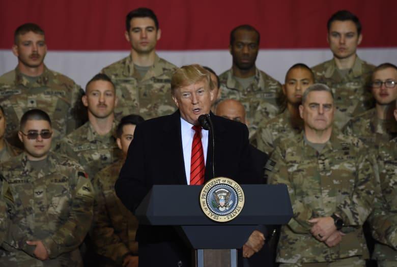 الرئيس الأمريكي دونالد ترامب يزور القوات الأمريكية في أفغانستان