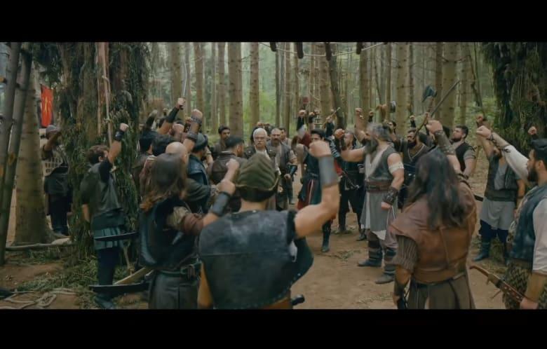 """مشهد من فيلم """"سيف العدالة: الأتراك قادمون"""" الذي سيعرض في دور السينما التركية"""