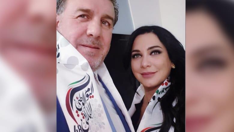 صورة نشرتها سلاف فواخرجي من مشاركتها في الاحتفال باليوم الوطني الاماراتي بدمشق
