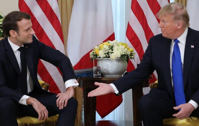 ترامب يناقض تصريحات بومبيو حول دعم مظاهرات إيران.. ولحظة توتر مع ماكرون