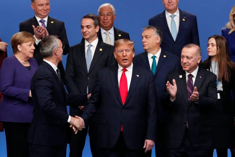 الرئيس الأمريكي دونالد ترامب في اجتماعات قادة الناتو في لندن