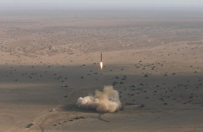 صورة أرشيفية من اختبار صاروخ في إيران