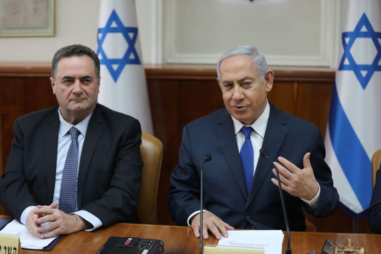 رئيس الوزراء الإسرائيلي بنيامين نتنياهو ووزير خارجيته إسرائيل كاتز