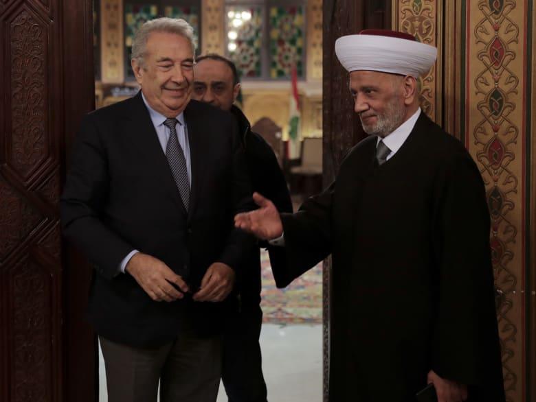 صورة من لقاء الخطيب بمفتي الجمهورية