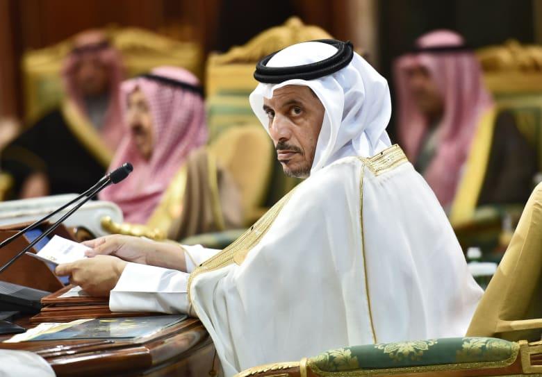 صورة لرئيس وزراء قطر خلال القمة الخليجية