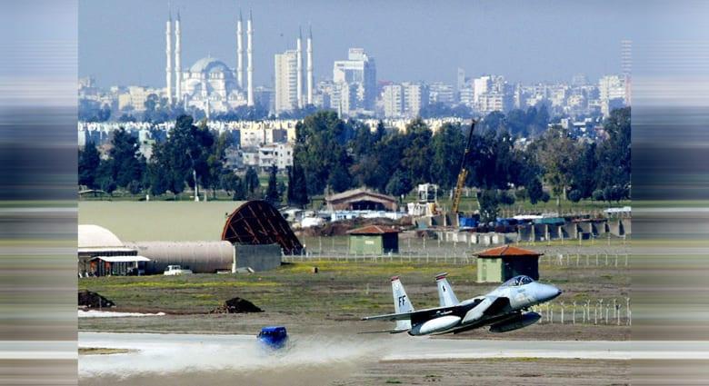 صورة أرشيفية لإقلاع مقاتلة من قاعدة انجرليك في تركيا