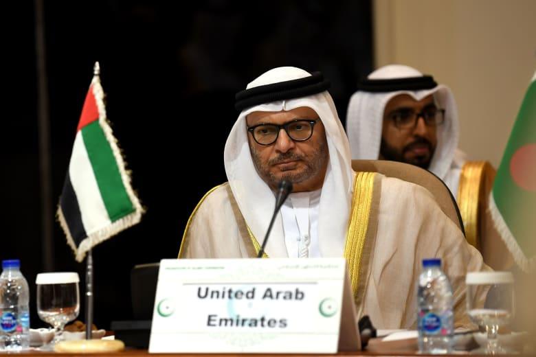 صورة أرشيفية لوزير الدولة للشؤون الخارجية في الإمارات أنور قرقاش