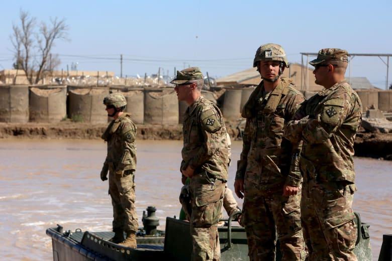 عناصر من الجيش الأمريكي خلال تدريبات عسكرية في العراق