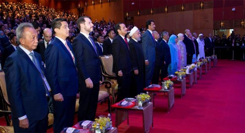 القمة الإسلامية في ماليزيا بحضور أمير قطر ورئيس تركيا ورئيس إيران والوفود المشاركة