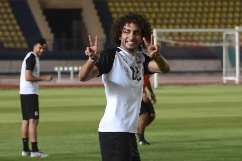 صورة لوردة خلال بطولة ألإريقيا بعد عودته لتدريبات منتخب بلاده