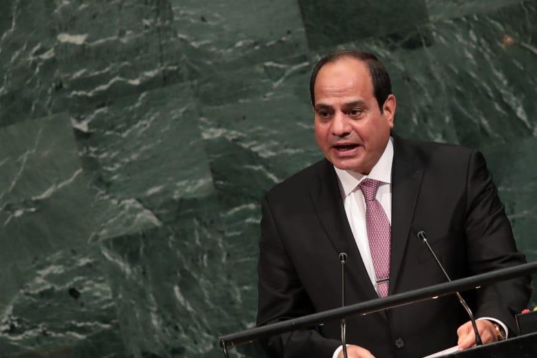 الرئيس المصري عبد الفتاح السيسي أمام الجمعية العامة للأمم المتحدة