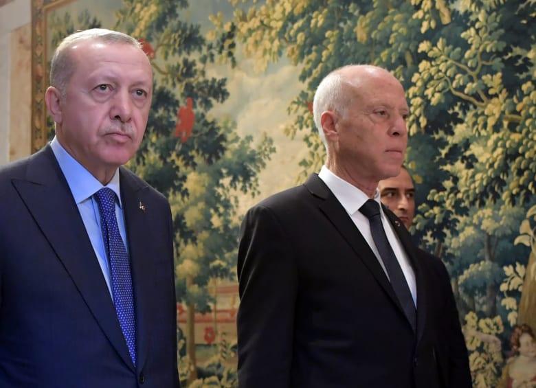 أردوغان مع الرئيس التونسي