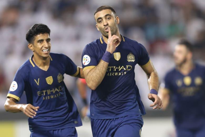 المغربي عبدالرازق حمدالله نجم النصر السعودي يفوز بجائزة أفضل لاعب عربي