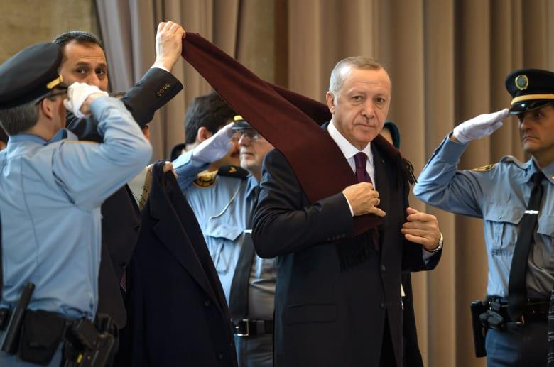 الرئيس التركي رجب طيب أردوغان في منتدى اللاجئين العالمي في جنيف 2019