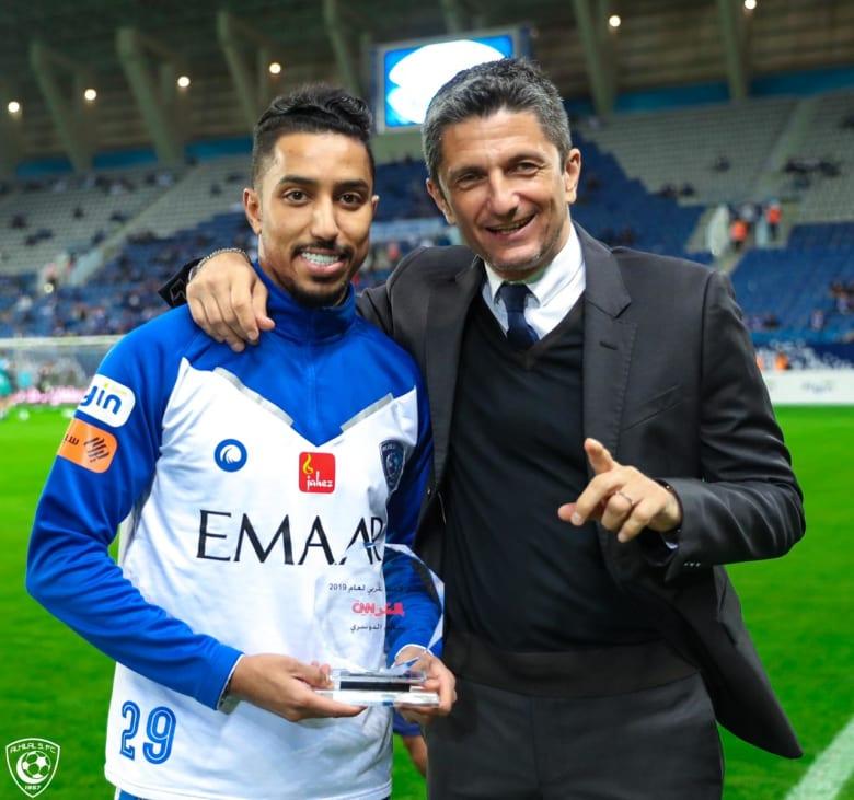السعودي سالم الدوسري يفوز بجائزة أفضل لاعب عربي في استفتاء CNN بالعربية 2019