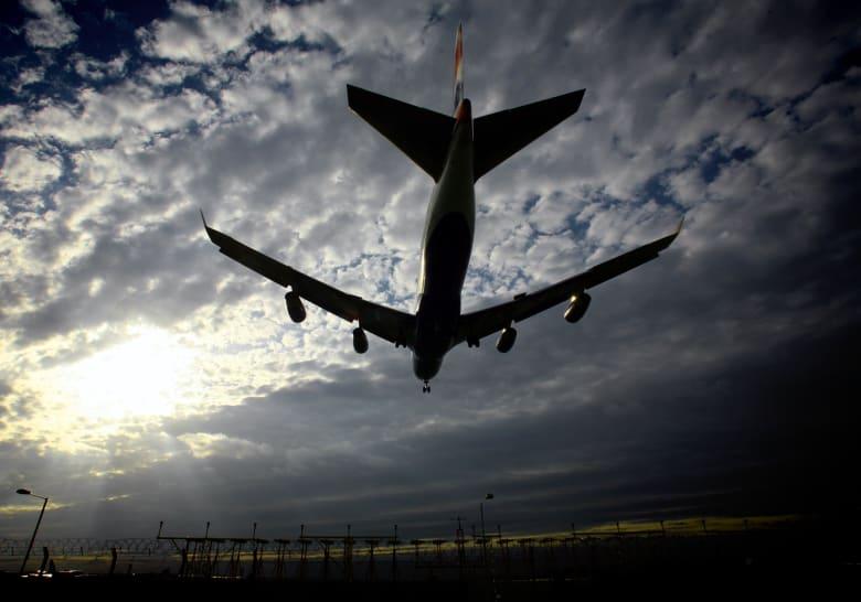 صورة ارشيفية لهبوط طائرة في مطار هيثرو في بريطانيا