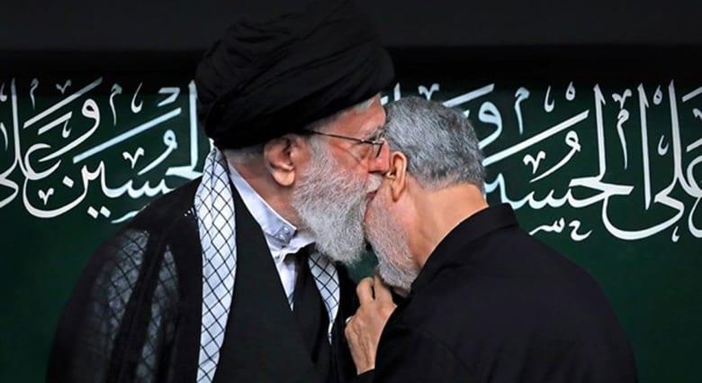 قاسم سليماني مع خامنئي