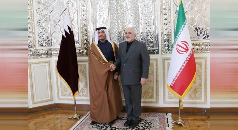 جواد ظريف ومحمد بن عبدالرحمن