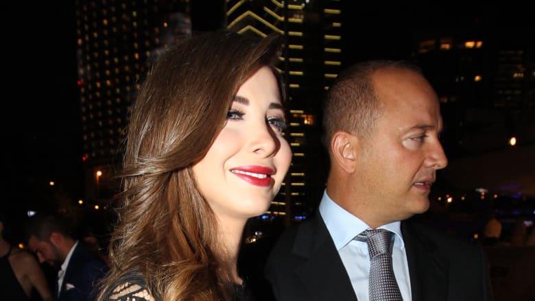 صورة للفنانة نانسي عجرم مع زوجها الدكتور فادي الهاشم