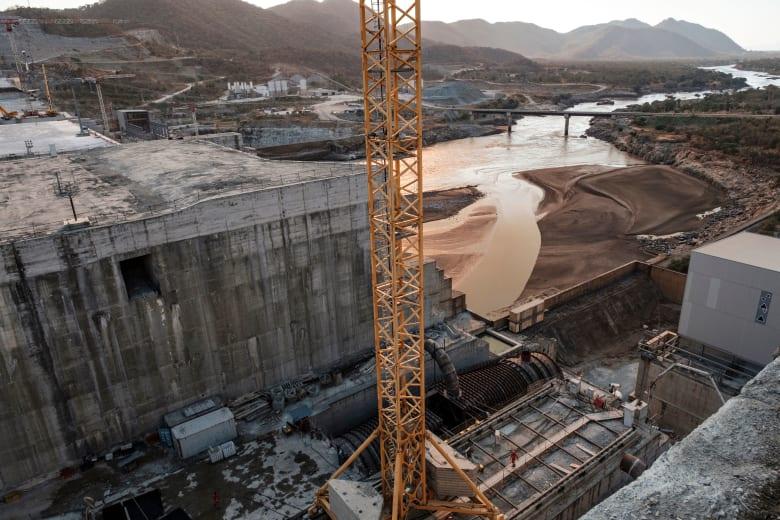 أعمال البناء في سد النهضة الإثيوبي