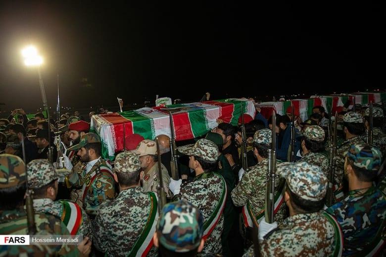 استقبال جثمان قاسم سليماني عند وصوله إلى إيران