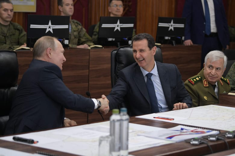 الرئيس السوري بشار الأسد ونظيره الروسي فلاديمير بوتين