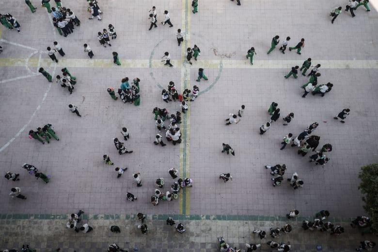 صورة أرشيفية لطلاب في إحدى المدارس في مصر