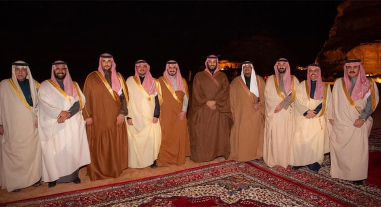 محمد بن سلمان ولي عهد السعودية وعدد من المسؤولين والإمارات
