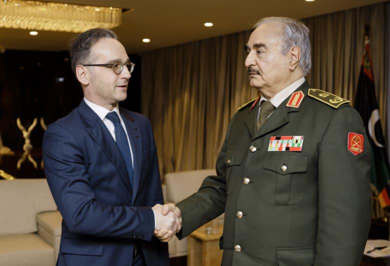 خليفة حفتر يستقبل وزير الخارجية الألماني هايكو ماس في بنغازي