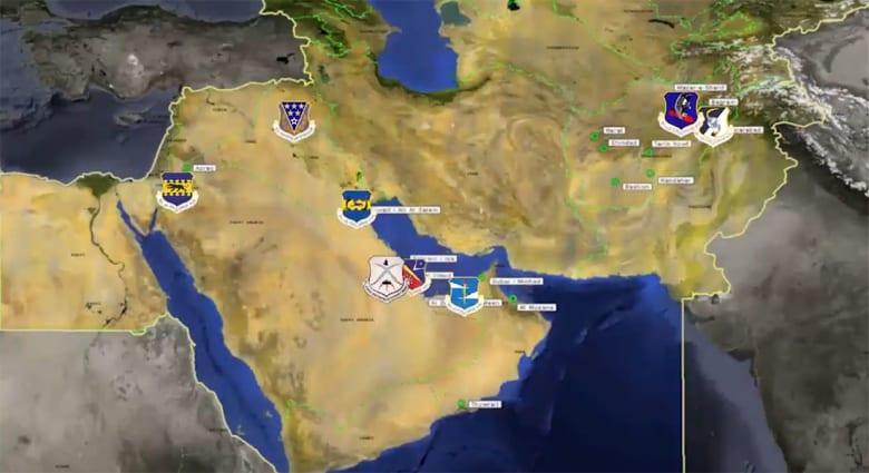 القوة الجوية الأمريكية في الشرق الأوسط