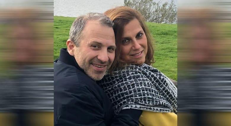 جبران باسيل وزوجته شانتال